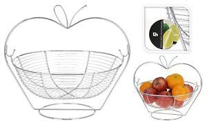 frutero colgante Detalles De Plata Cromo Soporte Colgante Frutero Cesta De Frutas En Marco Decoracin De Cocina Ver Ttulo Original