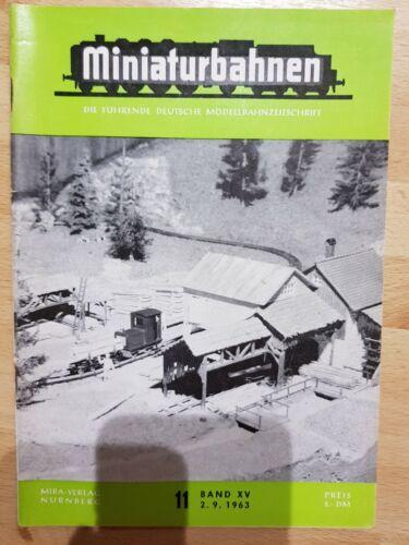 Miniaturbahnen 1963  Ausgabe 09//10//11//12//13//14//15//16