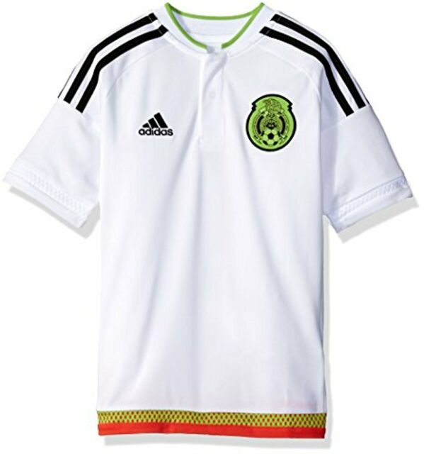 adidas Mexico 2015 Youth Away Jersey White Size Medium for sale ... 73f09b878