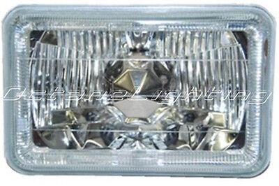 ONE 4X6 White LED Halo Angel Eye Halogen Headlight Headlamp Bulbs Crystal Clear