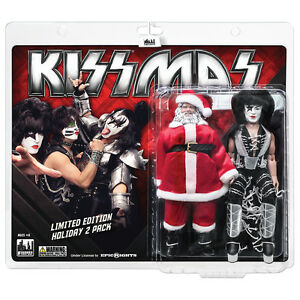 KISS 8 Inch Mego Style Action Figure Holiday Two-Packs: Santa & The Starchild