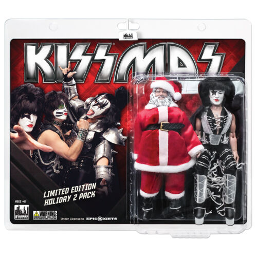 KISS 8 Inch Retro Style Action Figure Holiday Two-Packs: Santa & The Starchild