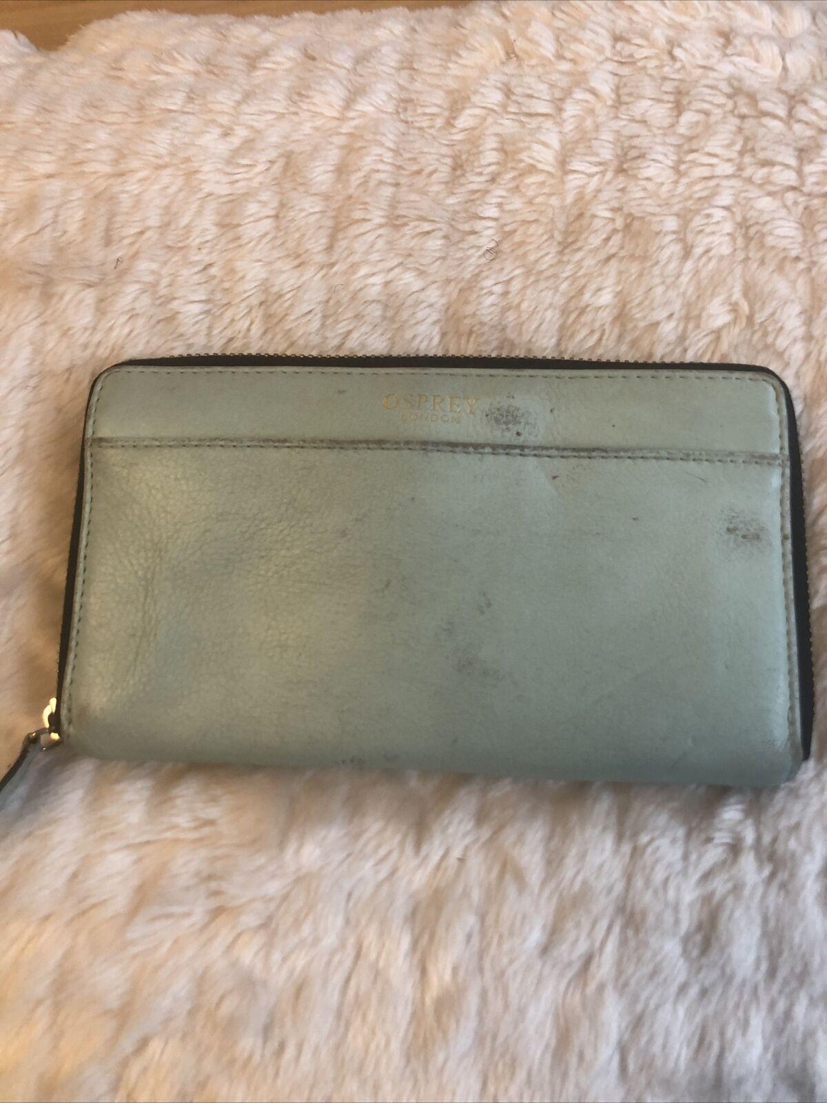Osprey London Leather Purse , Mint Green