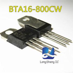 10PCS-BTA16-800CW-STMICROELECTRONICS-TRIAC-TO-220-BTA16-800CW-new