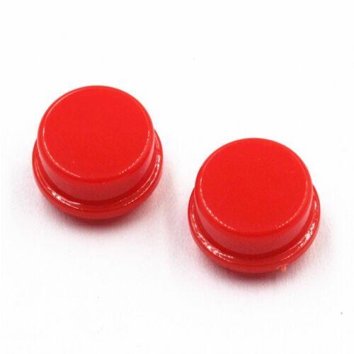 50pcs Rond Rouge Bouton Poussoir Cap Couverture Pour 12x12x7.3mm Tact Micro Interrupteurs