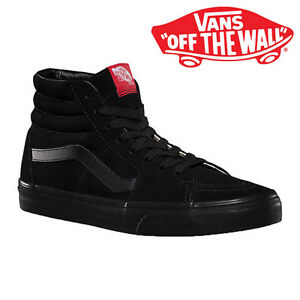 80d5503b843 Men s Vans Sk8-Hi Top Fashion Sneaker Core Classic Black Black Suede ...
