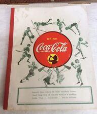 """Vintage Coca Cola 1940-45 School Tablet / Notebook / Pad """"SPORTS"""""""