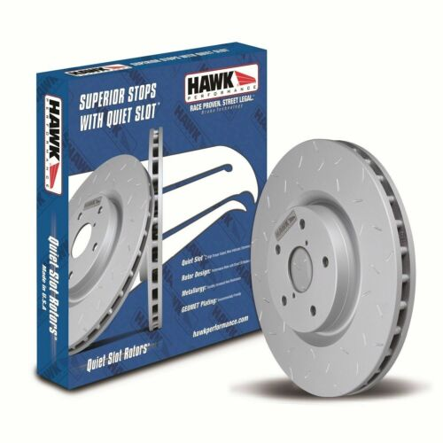 Front Hawk Perf HUS737 TM Disc Brake Rotor-Quiet Slot Rotor