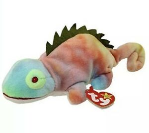 e81844f5a98 Image is loading Ty-Beanie-Babies-Iggy-the-Iguana-New-with-