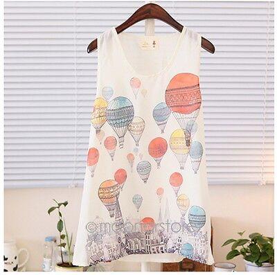 Fashion Womens Summer Loose Casual Chiffon Sleeveless Vest T Shirt Tops Blouse