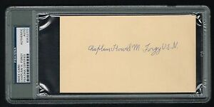 Chaplain Howell Forgy signed auto cut Praise the Lord & Pass the Ammunition PSA