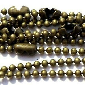 10-Pcs-Bronze-Plated-1-5mm-ball-Chain-Necklaces-18-inch-length-A5484