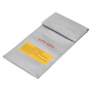 20-10cm-Silver-High-Quality-Glass-Fiber-RC-LiPo-Battery-Safety-Bag-Safe-G-S1C7