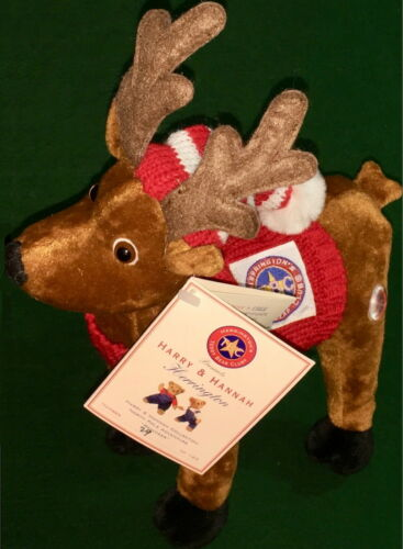 Herrington Teddy Bears 2001 Adventures of Harry & Hannah REINDEER Plush #29120