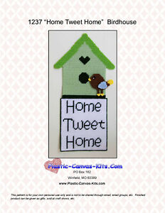 "/""Tweet Me/"" Bird-Valentine/'s Day-Wall Hanging Plastic Canvas Pattern or Kit"