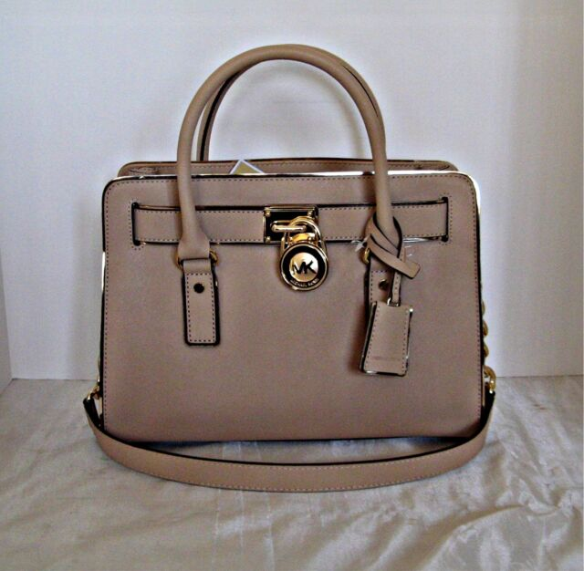 8498768f33a0 Michael Kors Hamilton Specchio Satchel East West Oyster Tote Purse ...
