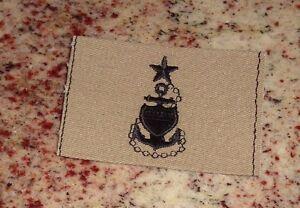 U.S.COAST GUARD CHIEF PETTY OFFICER BADGE,CLOTH,DESERT