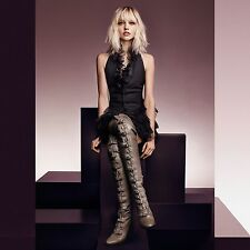 JIMMY CHOO MALOY 95 LEATHER OVER-THE-KNEE BOOTS EU 38 UK 5 US 8