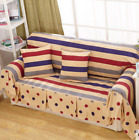 Stripe Dot Cotton Linen Slipcovers Sofa Cover Protect OauR 1 2 3 4 seater Color