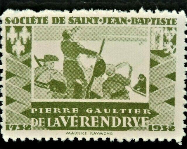 Societe Saint Jean Baptiste PIERRE GAULTIER de la VÉRENDRYE Canada F/VF SSJB