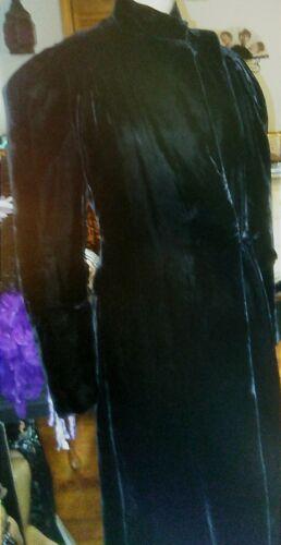 Vintage Black Velvet Opera Coat