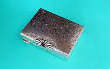 Puderdose mit Lippenstift Halterung   Silber 800   powder box with lipstick