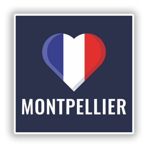 2 x Montpellier France Vinyl Stickers Travel Luggage #10234