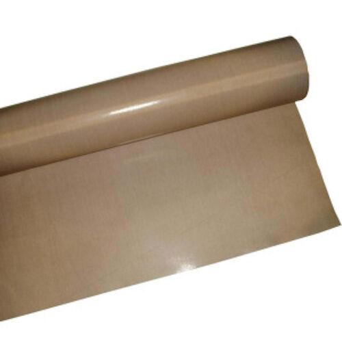 "2PCS Non Stick Teflon Coated Fiberglass Fabric .005/""x36/""x15ft NO Glue PTFE Cloth"