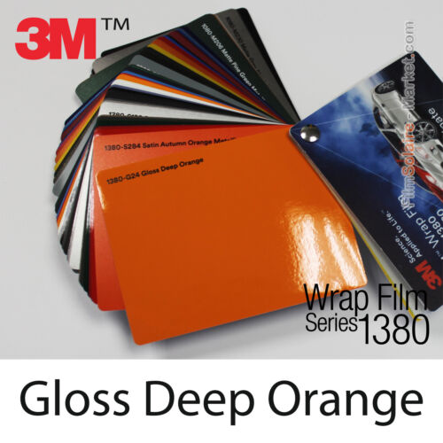 Gloss Deep Orange 3M 1380 G24 New Series Car Wrapping Total Covering Vinyle Film
