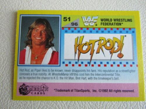 e7 Merlin 1992 ~ W.W.F SummerSlam 92 Gold Series 2 cartes CARTE variantes