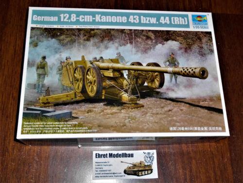 WWII german 12,8 cm Kanone 43  Bzw 44 Rh in 1:35 Trumpeter 02312 Neu
