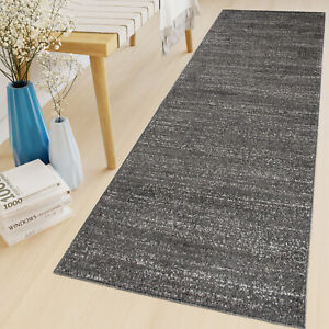 Long Hallway Carpet Runner Rug Black