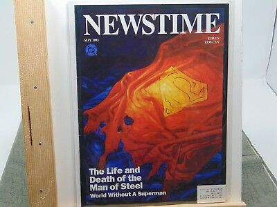 Newstime Life And Death Of Superman D.c Shock-Resistant And Antimagnetic 1993 Magazine Gm1611 Waterproof