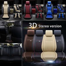 Luxury Auto Car Seat Cover Full Set Waterproof Leather Front Rear Cushion Covers Fits Volvo