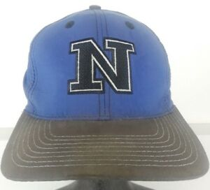 fe50a8f372e Vintage NIKE Hat Snapback Black Blue Baseball Cap Hat Nylon Spell ...