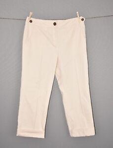 TALBOTS-NEW-59-Cream-Cuffed-Cropped-Chino-Pant-Size-6