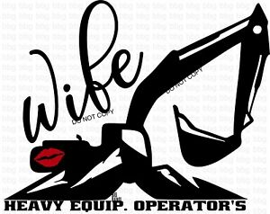 Crane operator wife decal
