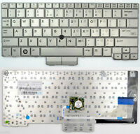 Genuine Hp 2710p Silver Keyboard W/point Stick 454696-001