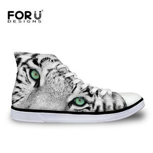 Men's Animal style White High Top Canvas Shoes Animal style Canvas Shoes for Men  39.5 AdeeSu Sxc01769 afkhMhF
