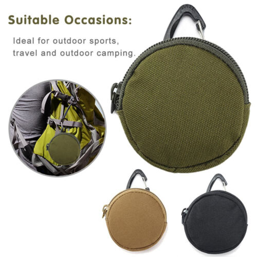 with Hook Clip Bag Pocket EDC Outdoor Tool Pouch Key Holder Coin Purses Wallet