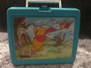 RARE Winnie The Pooh Disney Jade Plastic Lunch Box *WITHOUT* Thermos