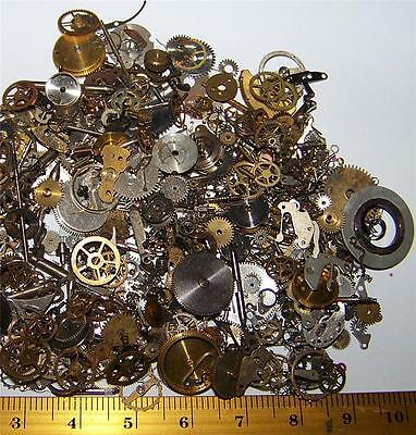 FREE SHIP 15g Gears Wheels Steampunk Old Watch Parts Steam Punk Lots of Pieces
