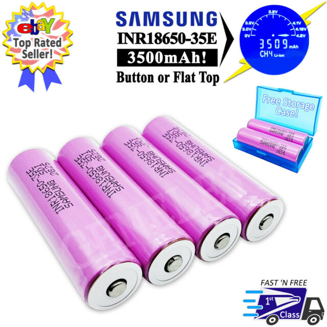 4 Pack of Authentic 30Q Flat Top for Flashlight Rechargeable Battery 3000mAh 3.7V 15A