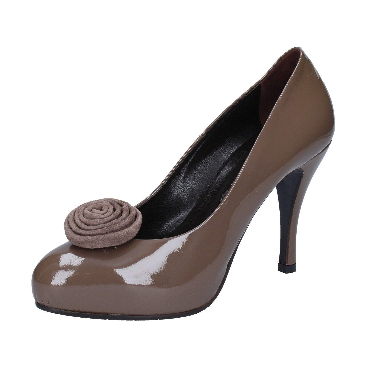 Women's shoes GUIDO SGARIGLIA 8 (EU 38) pumps brown patent leather AY118-38