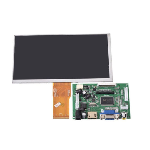 7 inch LCD Screen Display Monitor for Raspberry Pi+Driver Board HDMI//VG WH