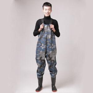 SGAM Wathose Watstiefel Camo Teichhose Fischerhose Anglerhose Mit Stiefel PVC