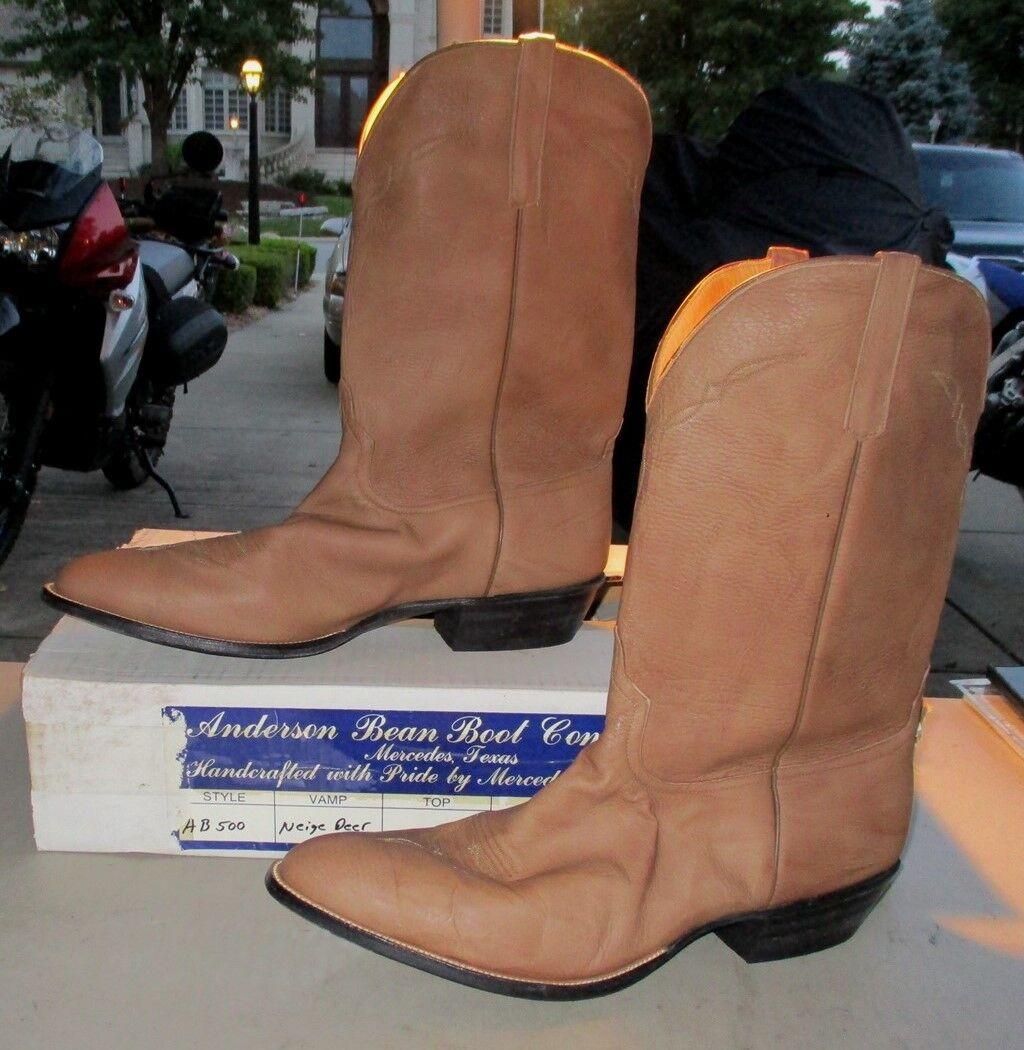 New Anderson Bean #AB500 19 D camel buckskin leather (333B) Scarpe classiche da uomo
