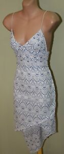 Women-039-s-White-and-Blue-Lace-Dress-Maurie-amp-Eve-Size-8