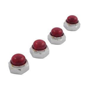 MCS-HARLEY-DAVIDSON-Palanca-Eje-Tuercas-Extremo-Cromo-rojo-para-big-twin-XL
