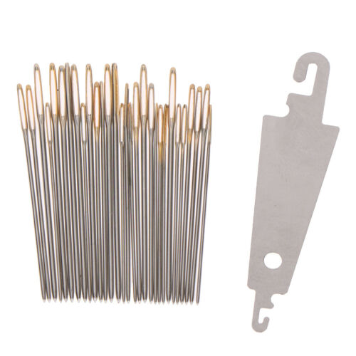 30x Hand Sewing Needles Gold Eye Embroidery Cross Stitch Needles With Threade Gj
